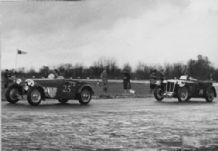 HRG - P Scott and MG - R White at Castle Combe Mar 1951